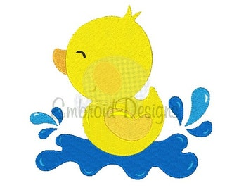Spring Duck Machine Embroidery Design 050416 Embroidery Duck Filled stitch 4X4 5X7 8X8 6X10 Instant download