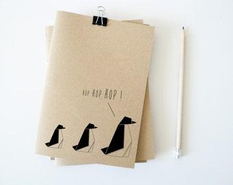Notebook / Pengouin / Journal / kraft paper / HOP HOP HOP