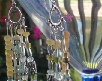 Powder Blue Pearl dangle earrings