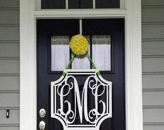 Monogram Door Hanger, Monogram Door Wreath, Wooden Monogram, Three Letter Monogram, Ready to Paint, any size available