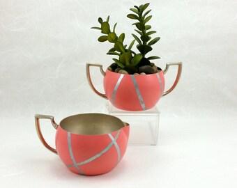 Coral & Silver, Indoor Planters