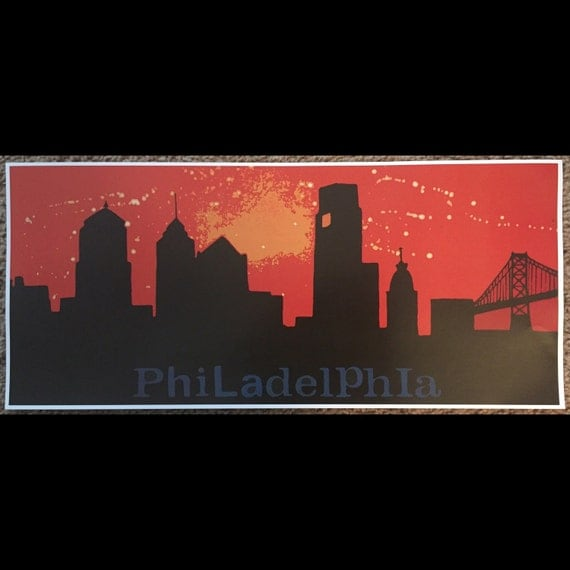 Philly skyline print