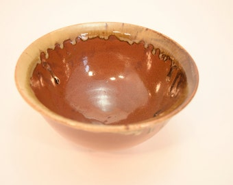 Stoneware Pottery Mixing Bowl, Ceramic Rustic, Brown Kitchen Decor, House Warming Gift, Wedding Present