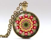 Fractal jewelry Geometry necklace Bohemian pendant OWA445