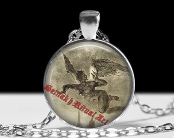 Lucifer pendant, satanic necklace, occult jewelry #427