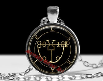 14 LERAJE demon seal pendant, Goetia sigil necklace, Lemegeton jewelry, Lesser Key, occult pentacle, summoning demons ritual amulet 104.14