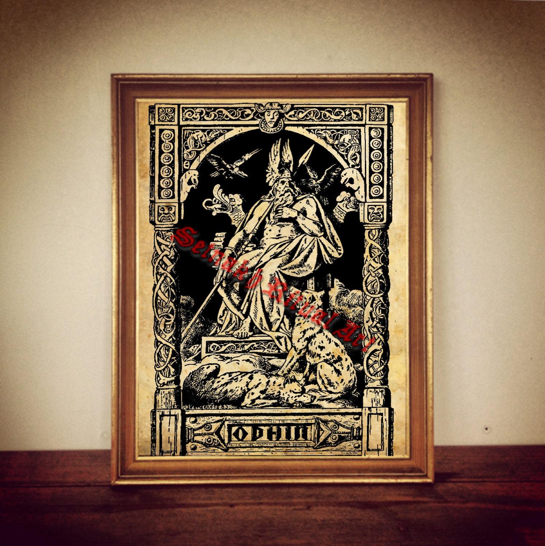 243 odin print odin poster viking print viking poster
