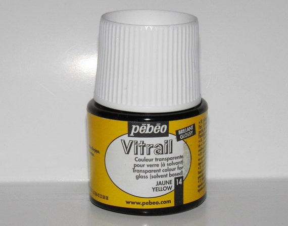Pebeo vitrail 14 yellow color imitation of stained glass for Solvent based glass paint