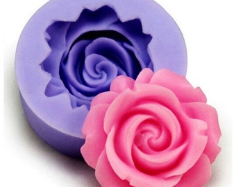 Rose 3D-Silicone Mold for Fondant, Gumpaste and more.