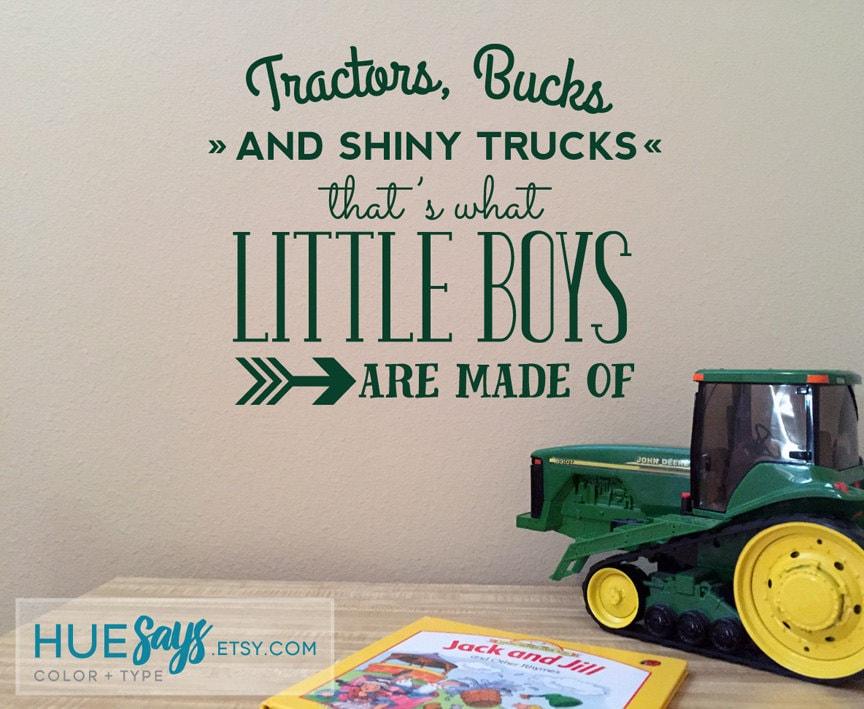 Tractors Amp Trucks Baby Boy Nursery Nursery Vinyl Vinyl Wall