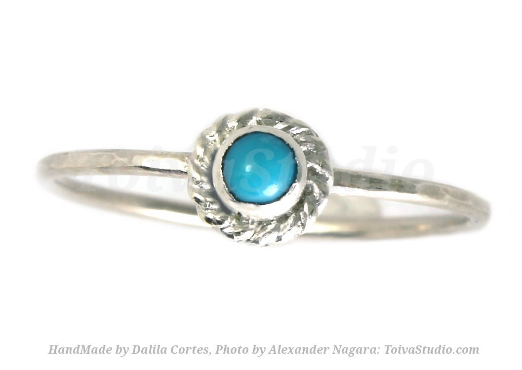 turquoise white gold ring by toivastudiojewelry on etsy