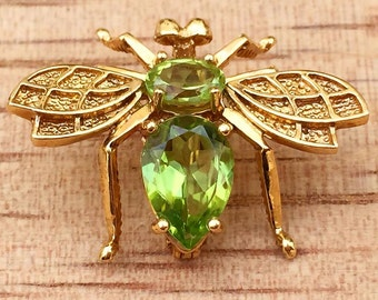 Peridot Bumble Bee Brooches