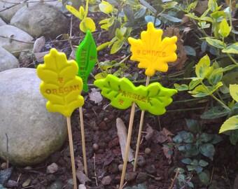 Set cartellini segna piante decorazione vaso erbe aromatiche for Cartellini per piante