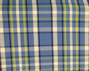 Bold Blue, Green Plaid Upholstery Fabric - Upholstery Fabric By The Yard