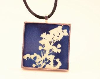 Cyanotype Foliage  Pendant