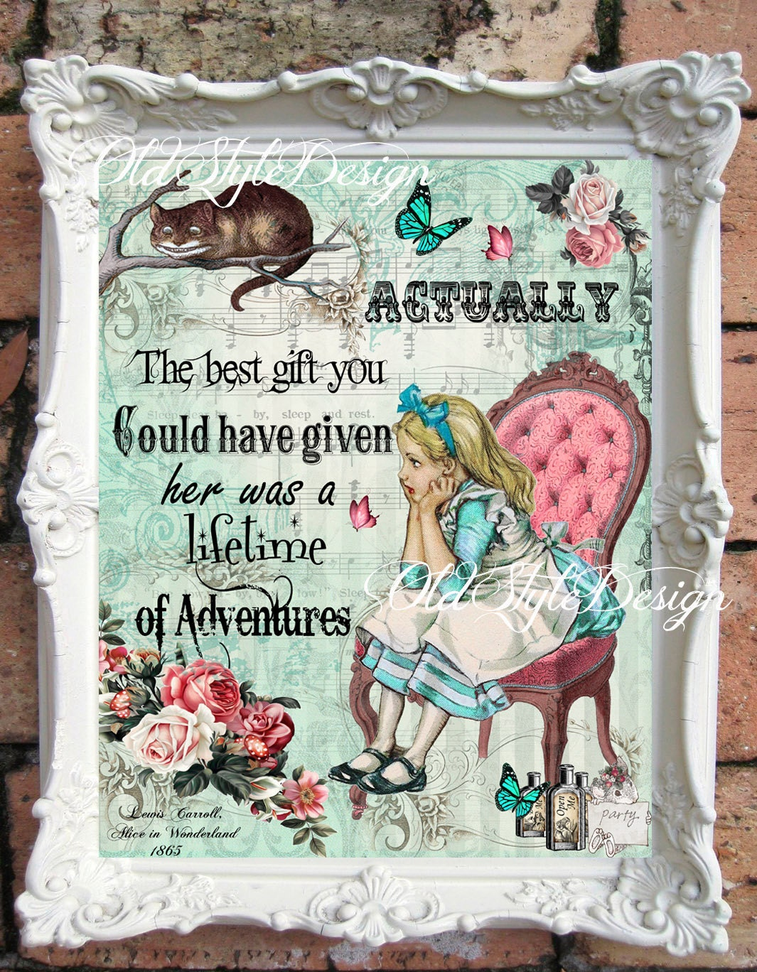 Alice In Wonderland Nursery Alice In Wonderland Decor Vintage