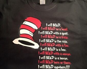 Dr. Seuss I Will Read..... T-Shirt
