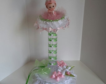 Baby girl centerpiece for baby shower