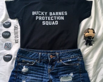 Bucky Barnes Protection Squad black T-shirt