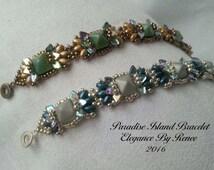 Paradise Island Bracelet & Earrings Set Tutorial - Instant PDF Download