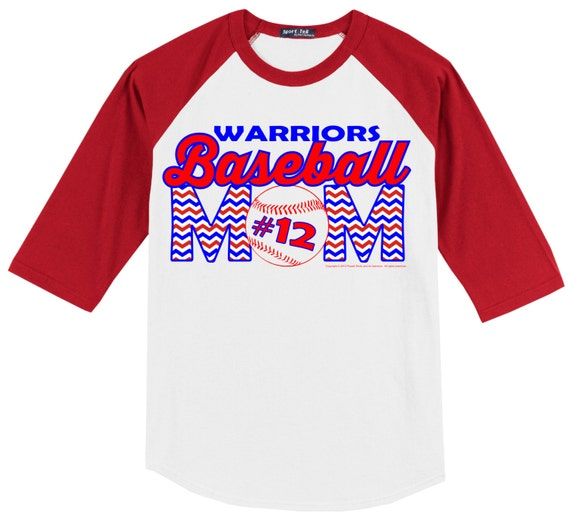 Personalized baseball mom t shirt raglan your choice of print for Custom raglan baseball shirt