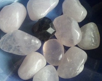 Lovely Rose quartz crystal Gems~love~Self-love~Relationships~Heart Chakra Stone~give and receive love~ Positive Affirmation