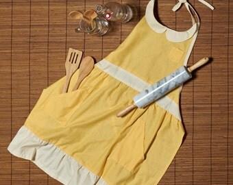 Vintage Style Apron Yellow