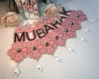 Rose Gold Eid/Ramadan/Party Banner With Crystals and Gems