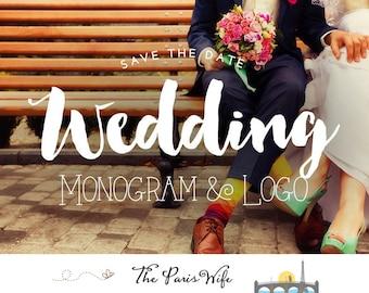 Wedding logo design custom logo design wedding monogram logo design wordpress wedding website blog logo wedding event planning logo