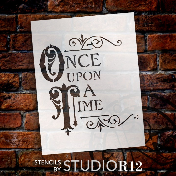 Once Upon A Time Word Art Stencil - Select Size - STCL877