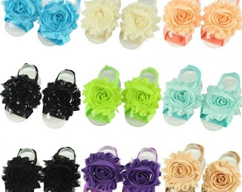 Pick One - Barefoot Baby Sandals - Barefoot Sandals - Infant Girl Sandals - Newborn Sandals - Soft Baby Sandals - Teal baby sandals