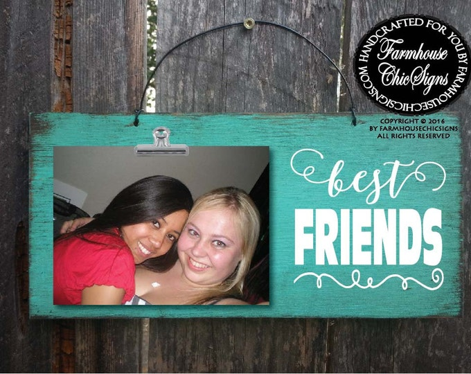 BFF, besties, gift for bestie, Picture Frame, Rustic picture frame, best friends, best friend gift, best friends picture frame, 132