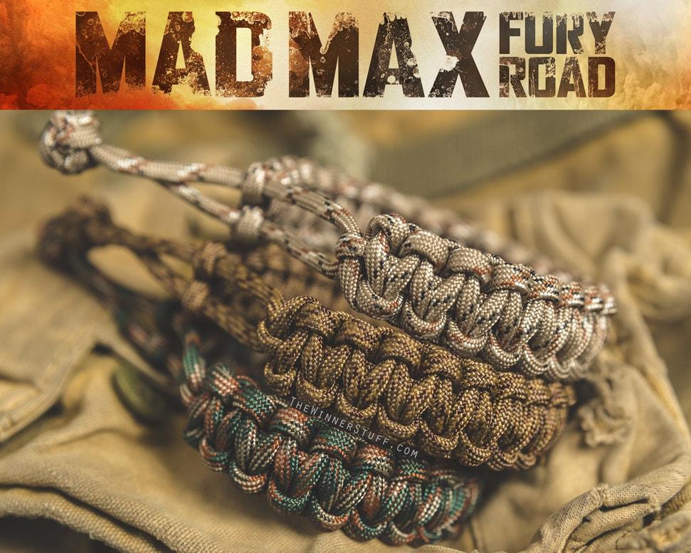 Mad Max Paracord Bracelet All Camo Colors