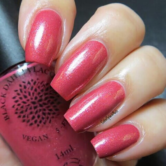 Red Chrome Flakie Nail Polish By Black Dahlia Lacquer Red
