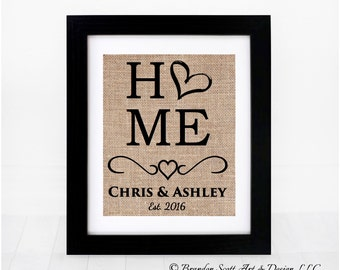 Personalized Housewarming Gift, First Home Gift, New Home Gift, Wedding Gift, Bridal Shower Gift, Bride Gift, Rustic Wedding Gift