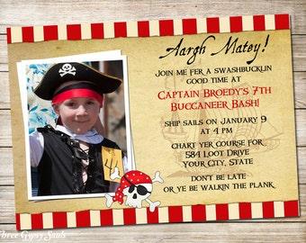Pirate Invitation Pirate Birthday Invitation Pirate Invite Printable Invitation