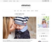 "WordPress Theme ""Emma"", WordPress Template, Responsive WordPress Theme, Blog Template, Premade Website Design, for WordPress.org Websites"
