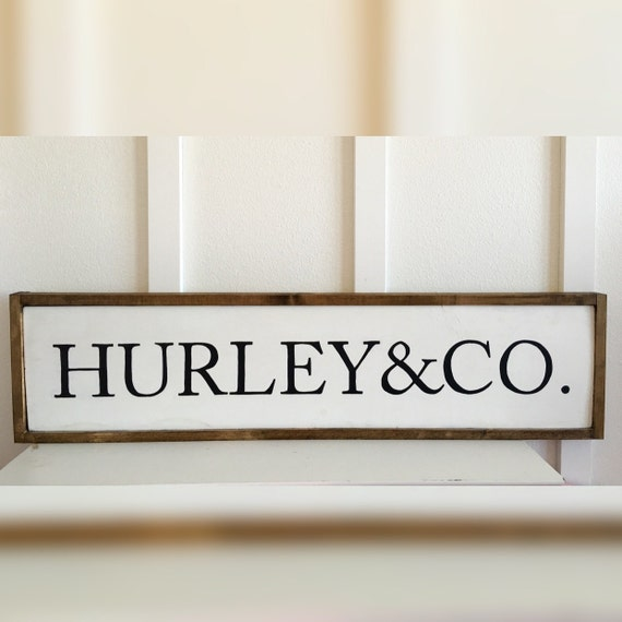 last name wood sign wall decor personalized wedding family. Black Bedroom Furniture Sets. Home Design Ideas
