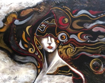 Blind Goddess - original artwork - acrylic painting -