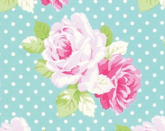 "1'-26"" CUT Sadies Dance Card - Dottie Rose in Jade, Tanya Whelan PWTW124.JADEX Shabby Chic Fabric Floral"