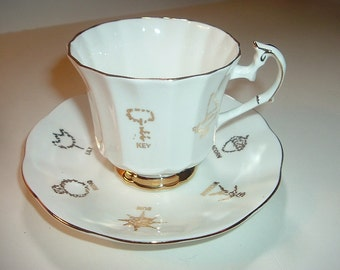 Taylor Kent Red Rose Tea Cup of Fortune Cup and Saucer