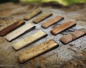Black Powder Coated Stainless Steel and Wood Slimline Money Clips - Choose Your Favourite Wood - FREE USA SHIPPING