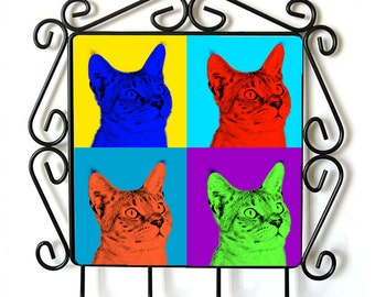 Chausie- clothes hanger with an image of a cat. Collection. Andy Warhol Style