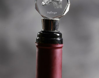 Haflinger, Crystal Wine Stopper with Horse, Wine and Horse Lovers, High Quality, Exceptional Gift