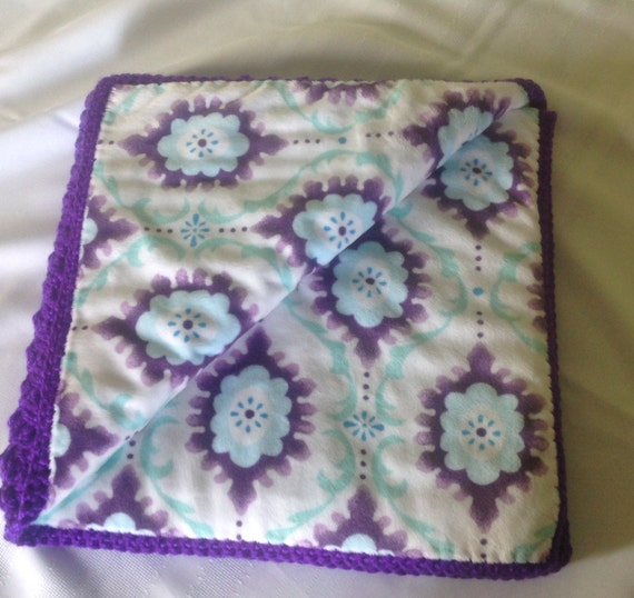 Purple fabric lined baby blanket for Purple baby fabric