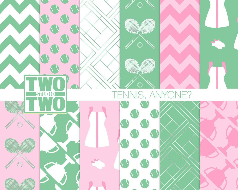 Tennis Digital Paper: \