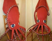Giant 8foot Squid Plush - Custom