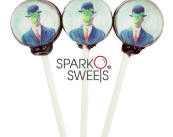 "Artisan ""Son of Man"" Gourmet Lollipops by Sparko Sweets Handmade Hard Candy ( 6 Pieces Set)"