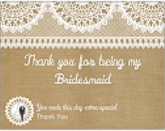 Bridemaid gift postcards...set of 10