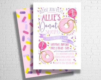 Donut Birthday Invitation | Donut Party Birthday Invitation | Sprinkles Birthday Invitation | Sprinkle Invite |  DIGITAL FILE ONLY